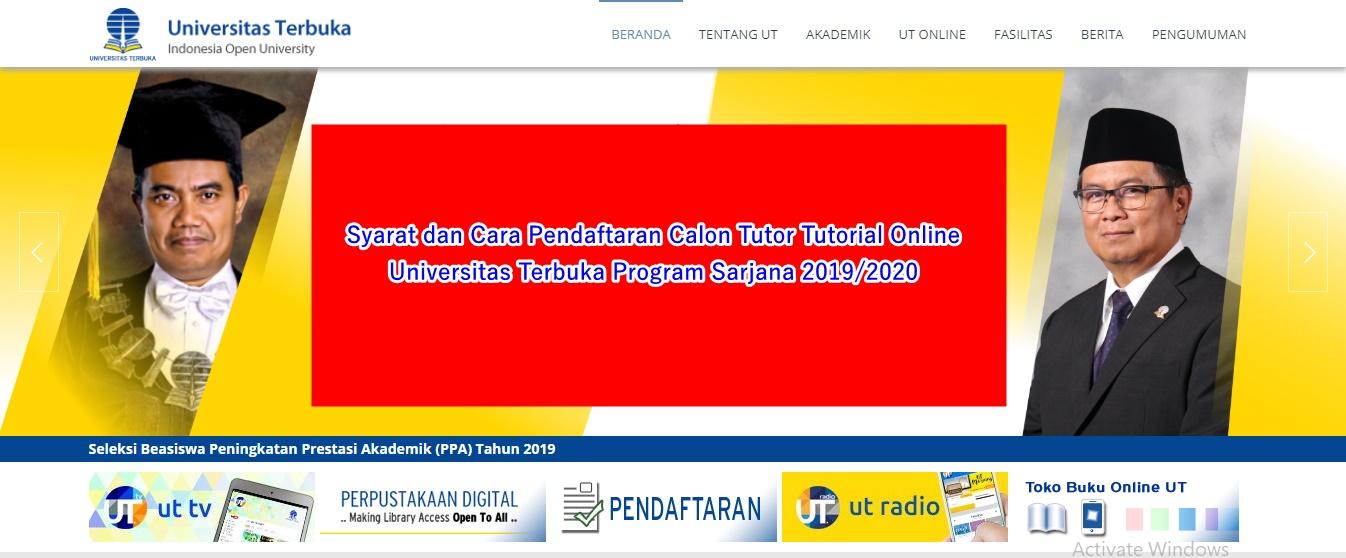 Syarat Dan Cara Pendaftaran Calon Tutor Tutorial Online Universitas Terbuka Program Sarjana 2019 2020 Berbagi Ilmu