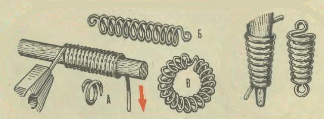 Плетение колечек из проволоки