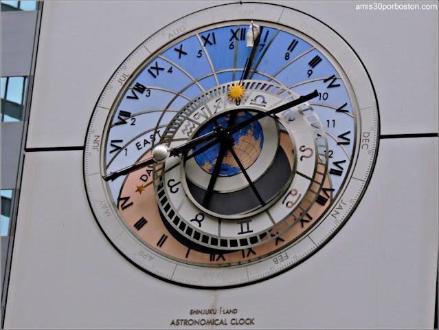 Reloj Astronómico en Shinjuku I-Land Tower, Tokio