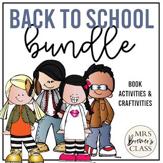 Back to School book activities & craftivities for Kindergarten and First Grade