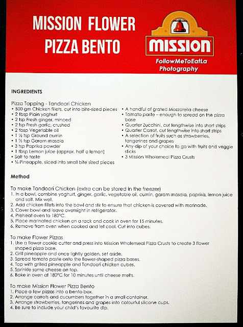 An Easy To Follow Step-By-Step Recipe  Mission Flower Pizza Bento