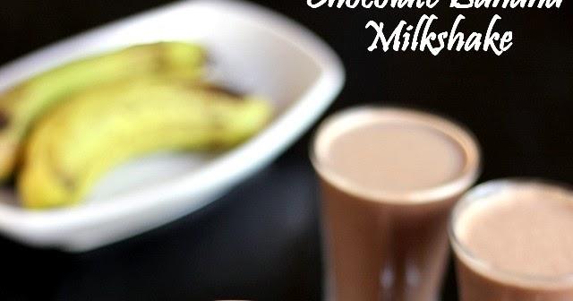 Banana Chocolate Milkshake Cocktail