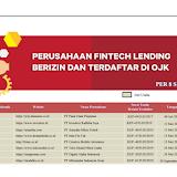 Daftar Lengkap 107 Pinjaman online (Pinjol) Terdaftar dan Berizin di OJK, Ini Daftarnya