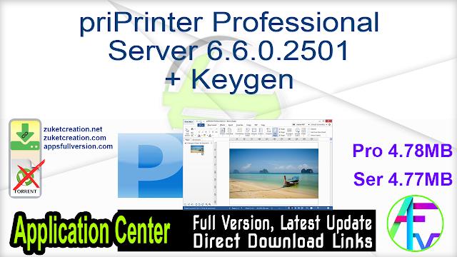 priPrinter Professional + Server 6.6.0.2501 + Keygen