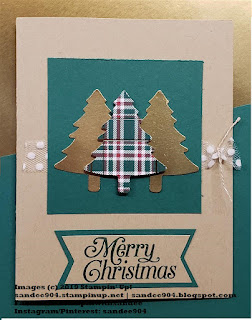 Perfectly Plaid Stamp Set coordinating Pine Tree Punch Stampin' Up!