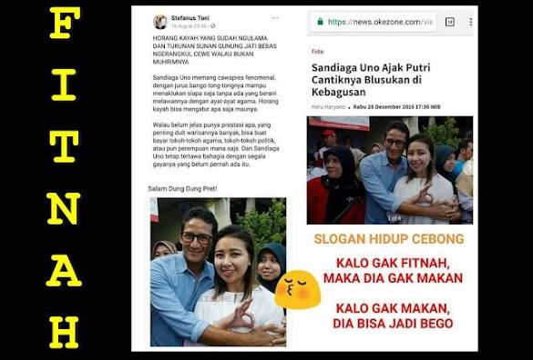 Pendukung Jokowi Fitnah Sandi, Padahal itu Foto Sandi dengan Anaknya Sendiri