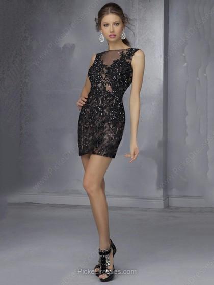 Vestiti corti in pizzo nero – Abiti in pizzo f12e29031f0