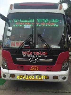Đánh giá nhà xe Tuấn Thành tuyến Thanh Hóa - Đà Nẵng