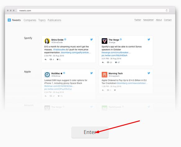 موقع للوصول إلى آخر أخبار الشركات التقنية على تويتر بسهولة