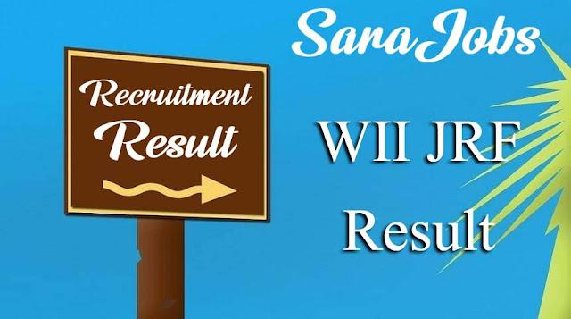 WII JRF Result