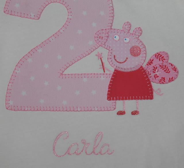 camiseta de cumpleaños 2 años peppa pig