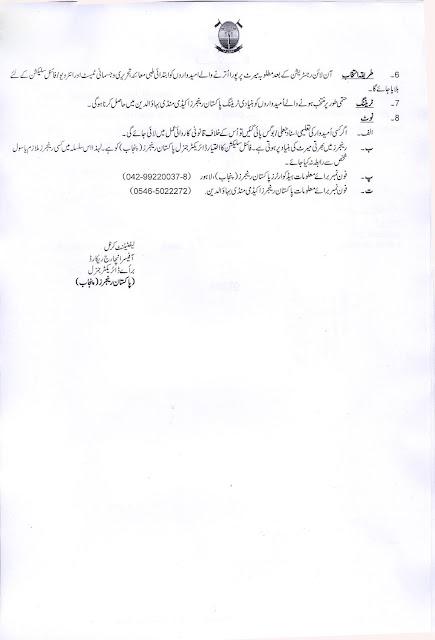Punjab Rangers Jobs