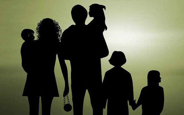 siluet keluarga