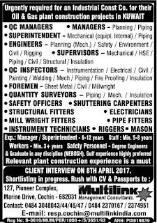 Oil & Gas Plant Construction Project Jobs in Kuwait