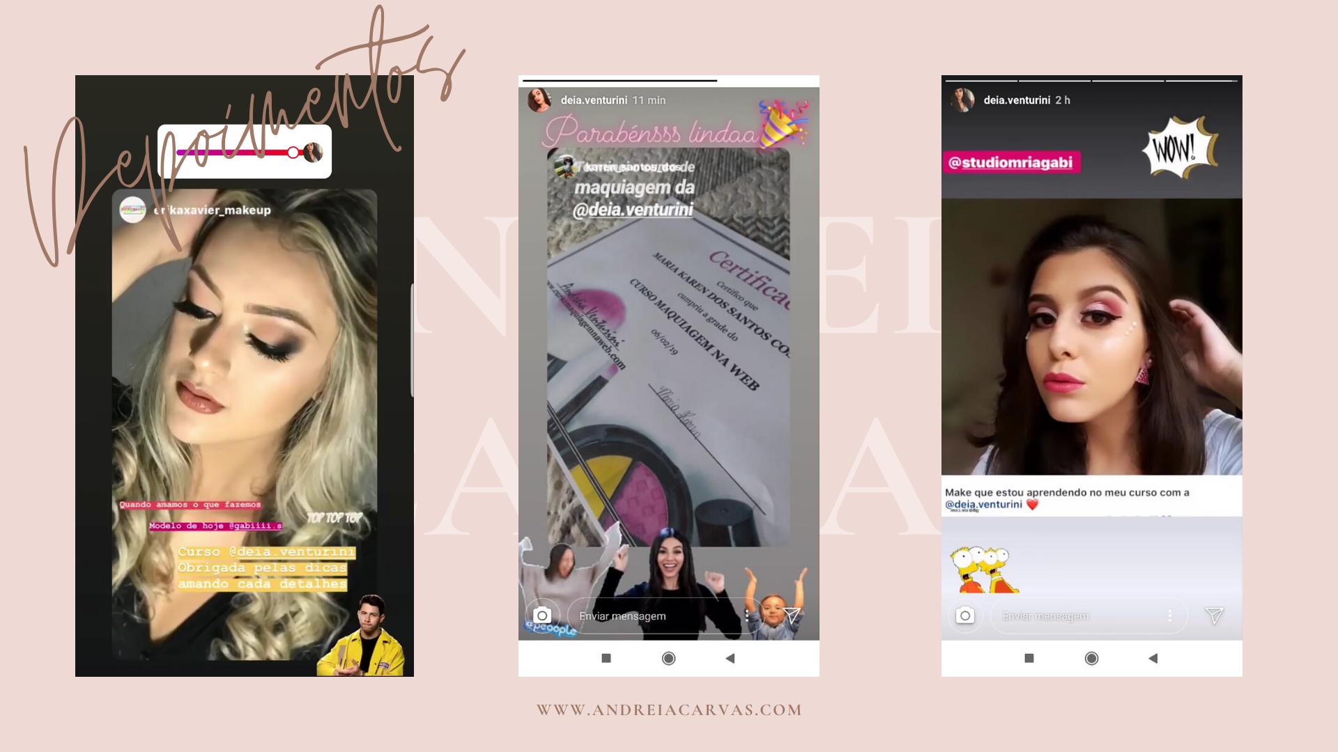 Depoimentos Curso Maquiagem na Web por Andreia Venturini