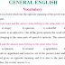 ENGLISH Vocabulary Notes PDF Examples Explanations Practice Test Key