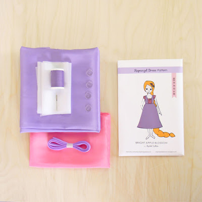 Sewing Pattern, instructions, tutorial, taffeta, tangled, disney, Sewing kit