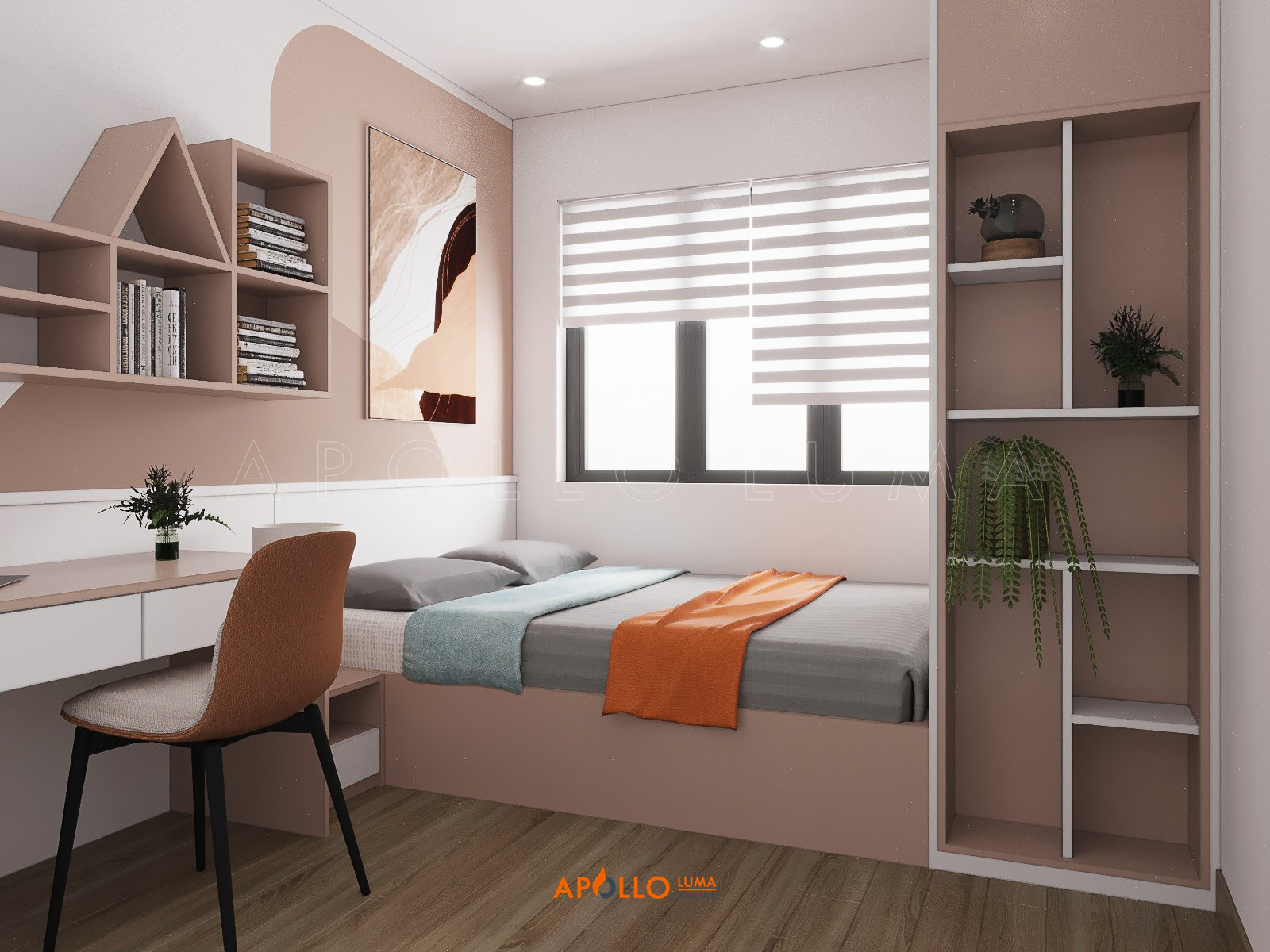 Thiết kế nội thất căn 3PN (75m2) S2.06-22 Vinhomes Ocean Park