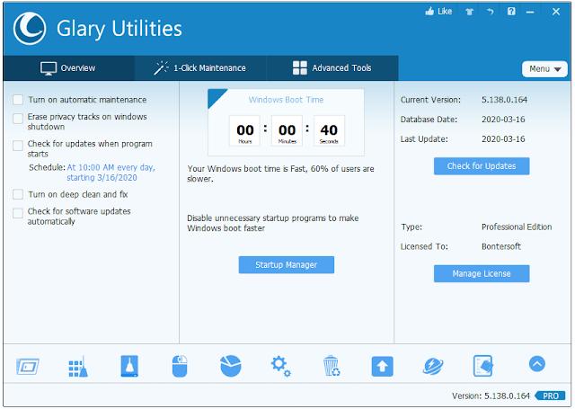 Screenshot Glary Utilities PRO 5.138.0.164 Full Version