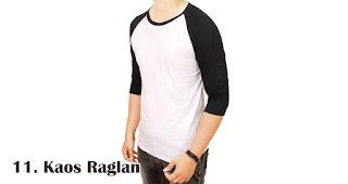 Kaos Raglan merupakan salah satu kaos kekinian yang bisa kamu jadikan pilihan untuk souvenir