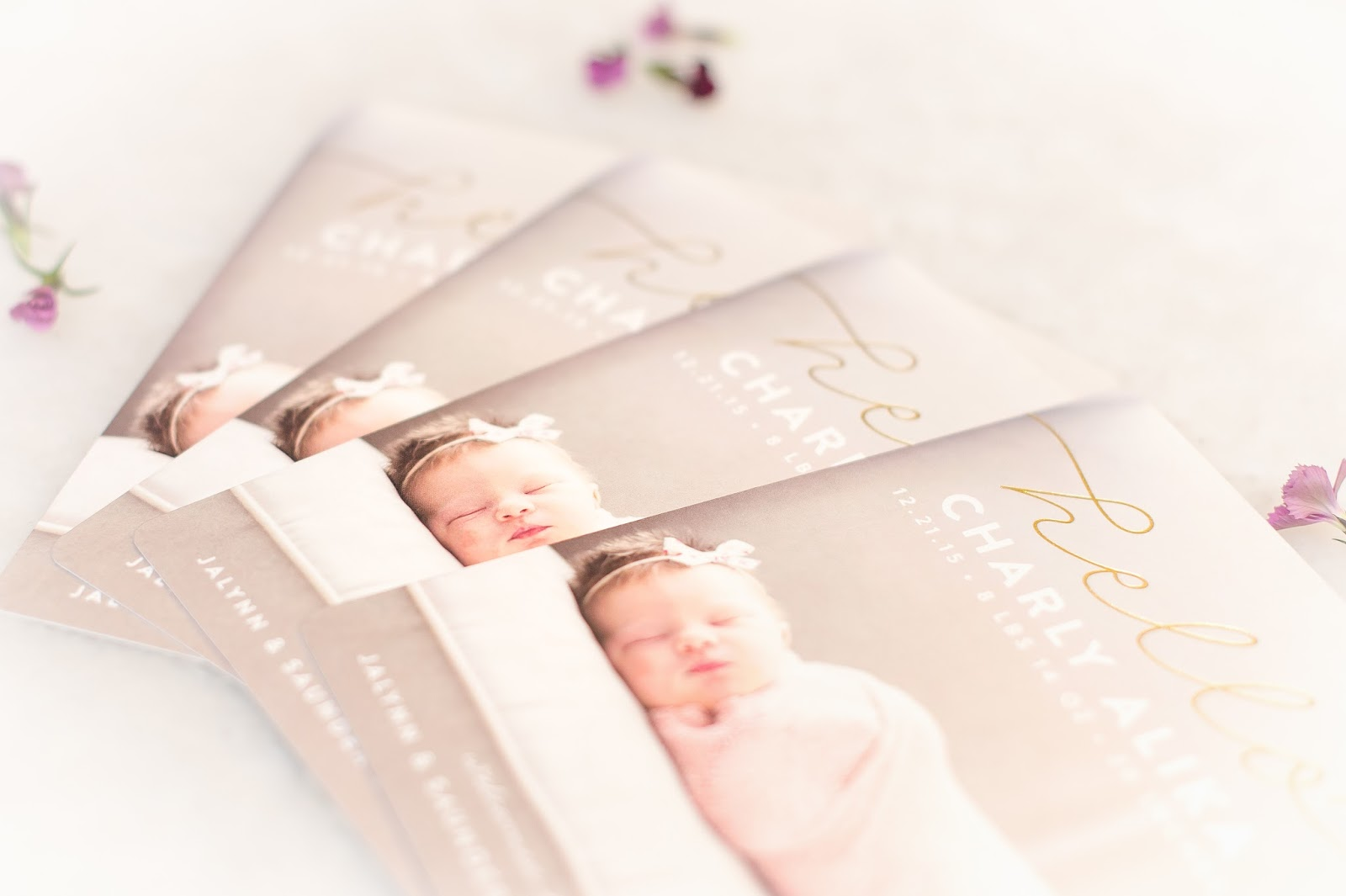 Minted Cards, Minted Baby Announcement