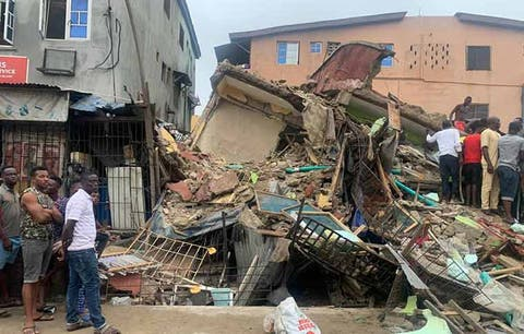 One dies, six rescued as building collapses in Lagos #Arewapublisize