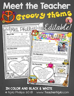Meet the Teacher Letter - Editable Template - Groovy Theme