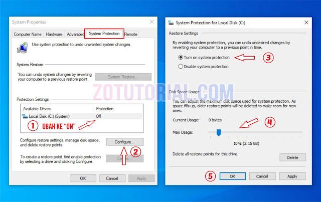 Membuat dan Mengaktifkan System Restore di Windows 10 dan 8 Work!