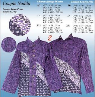Blus batik sarimbit couple lengan panjang motif terbaru 2016