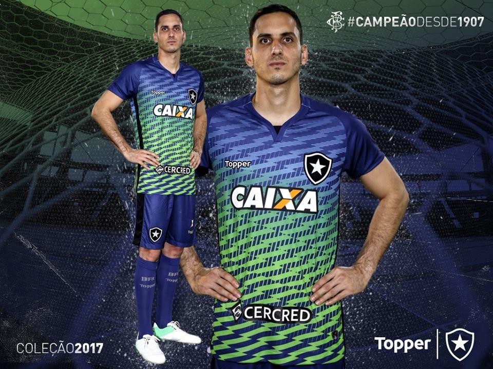 43d7d0f6d6bae As camisas de goleiros serão apresentadas com grafismo em efeito degradê  nas cores azul com verde e cinza com laranja.