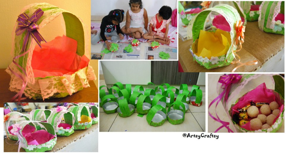 Paper Plate Basket craft \u2013 Entry by Kanchan Yadav & Pasting activities Archives - Artsy Craftsy Mom
