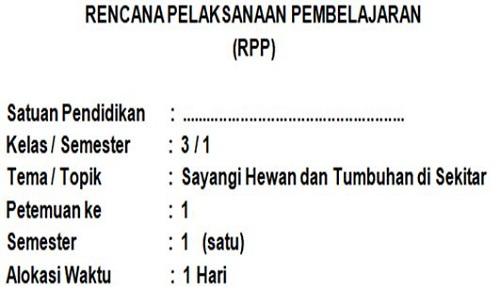 RPP Kelas 3 SD/MI Semester 1 Kurikulum 2013 Revisi 2018