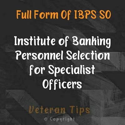 Full form of ibps so