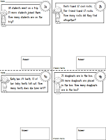 FREE Mini Workbook using 2 Digit Word Problems