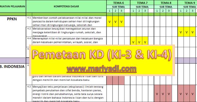 Pemetaan KD (K1-3 dan KI-4) Kelas 3 Semester 2 Kurikulum 2013 Revisi Terbaru
