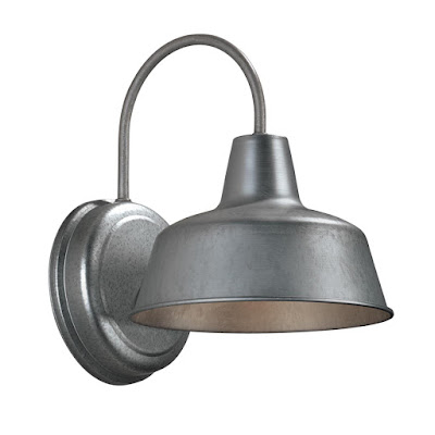 galvanized dark sky outdoor light