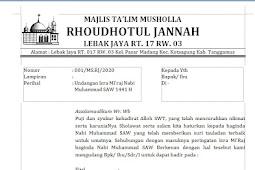 Undangan Isra Mi'raj Nabi Muhammad SAW Ms.Word Siap Download dan Edit