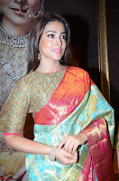 Shriya Saran Looks Stunning in Silk Saree at VRK Silk Showroom Launch Secundrabad ~  Exclusive 021.JPG