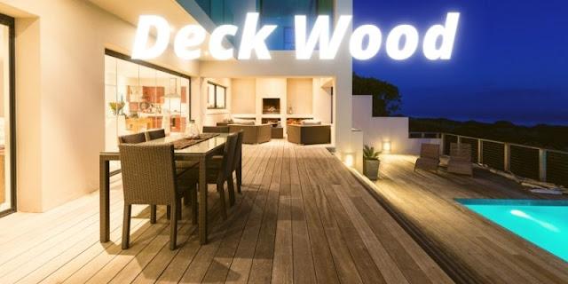 jenis deck pool terbaik untuk samping kolam renang - decking kayu solid