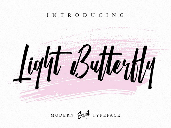 Download Light Butterfly Modern Handwritten Font Free