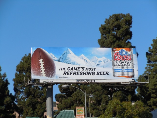 Coors Light Beer billboard