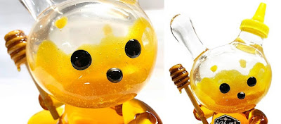 "Honey Bear Used Edition Custom 8"" Dunny Resin Figure by Sket One"