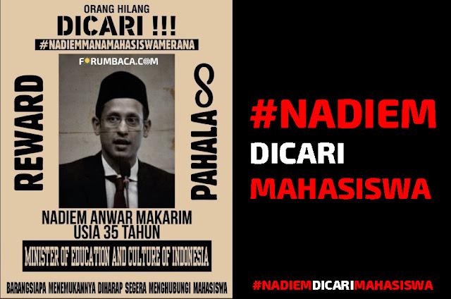 #NadiemDicariMahasiswa - FORUMBACA.COM