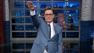 Stephen Colbert Gives Trump Nazi Salute Over Charlottesville