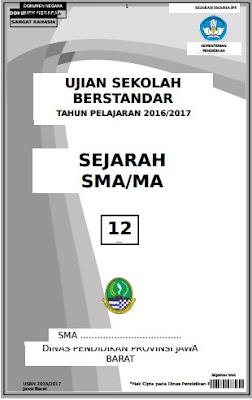 Soal USBN Sejarah Tahun 2016-2017
