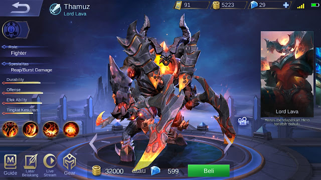 Fighter Terkuat di Mobile Legends Season 11 Thamuz
