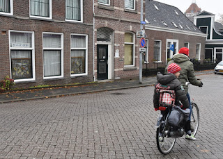 Child riding in a rear seat, Zaandam, The Netherlands