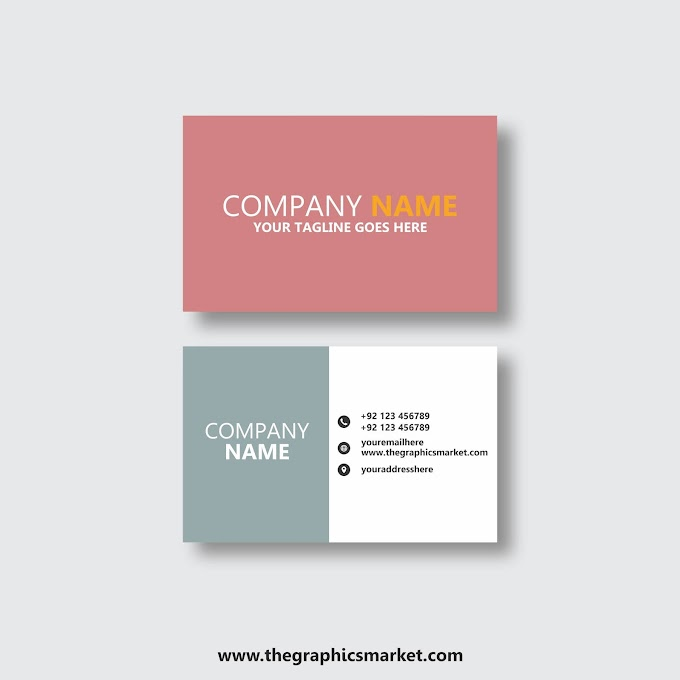 Simple Company Business Card Design | Free Download