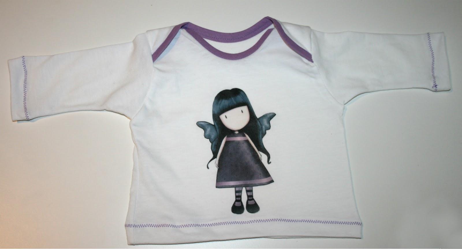 816acb8a47 Hecho de Tela  Tutorial  Como hacer una camiseta de bebe