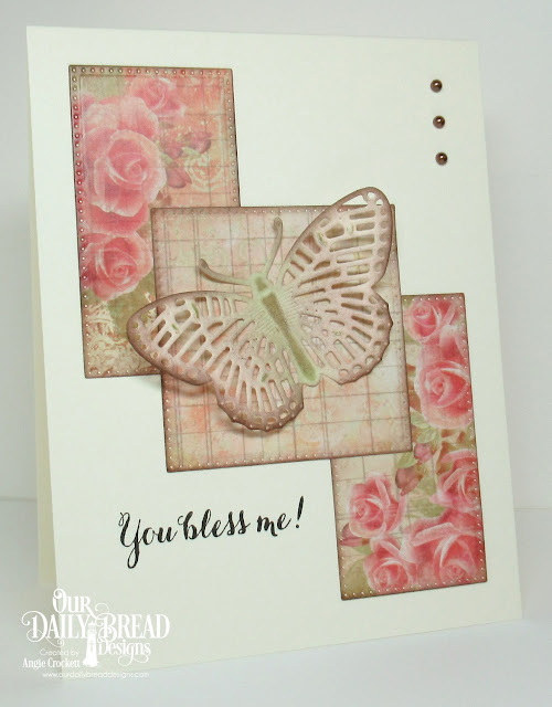 ODBD Sentiments Collection, ODBD Custom Fancy Fritillary Dies, ODBD Custom Pierced Squares Dies, ODBD Custom Pierced Rectangles Dies, Card Designer Angie Crockett